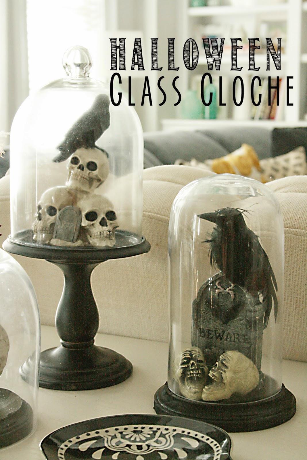 Diy Halloween Glass Cloche Darling Darleen A Lifestyle Design Blog