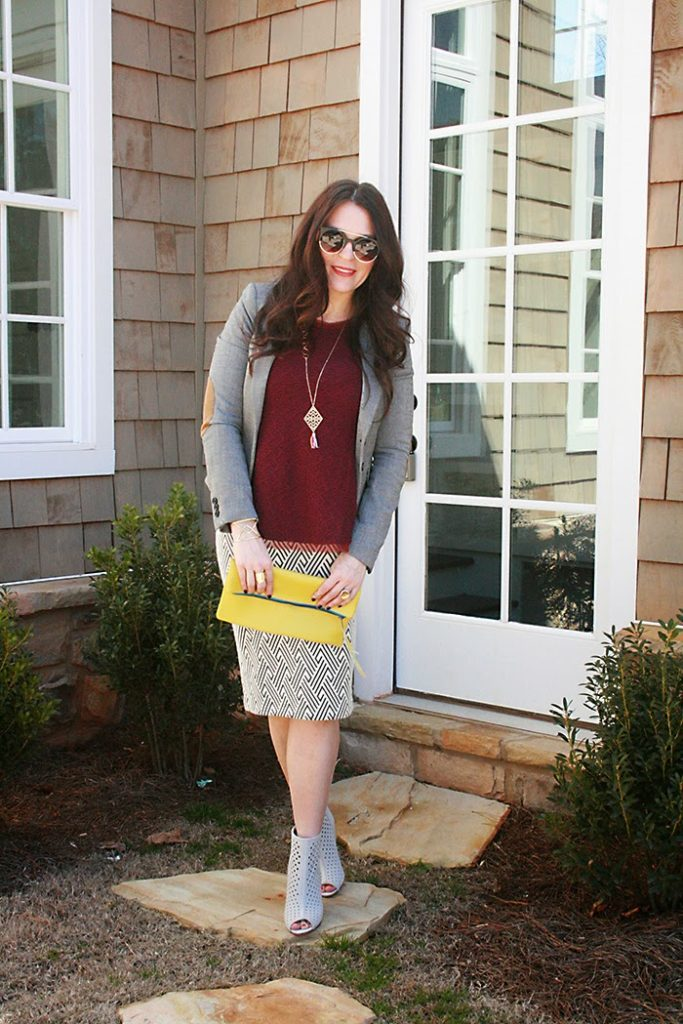spring style clothing jacket with rebecca minkoff shoes, zara skirt