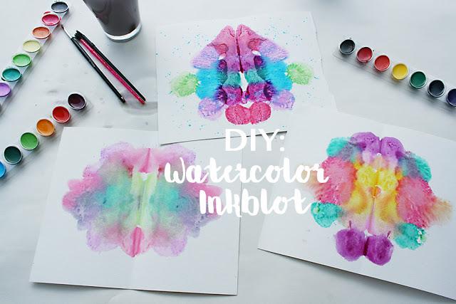 watercolor, inkblot, artwork, diy, kids artwork, crafting