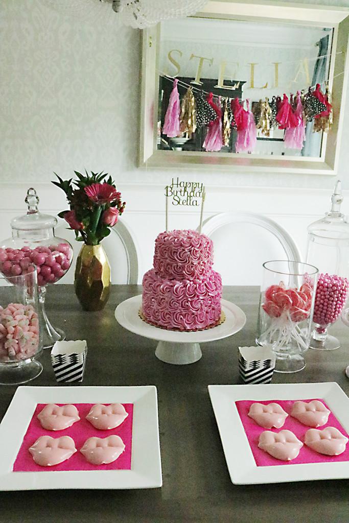 pink-gold-birthday-decorations