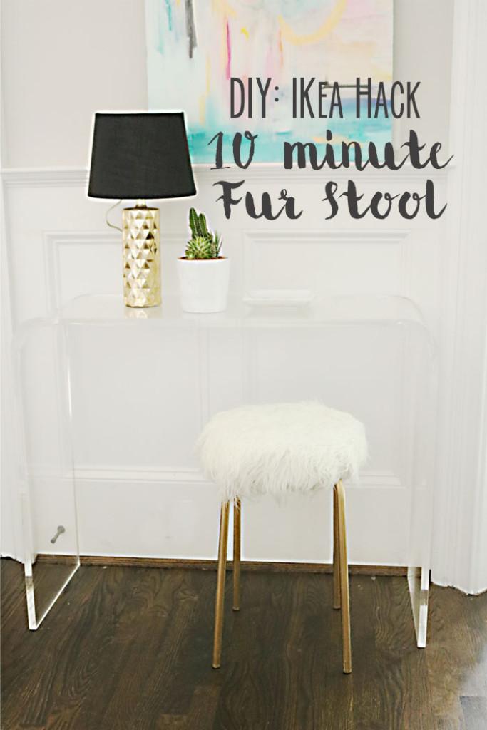 DIY-Ikea-Hack-Fur-Stool-words