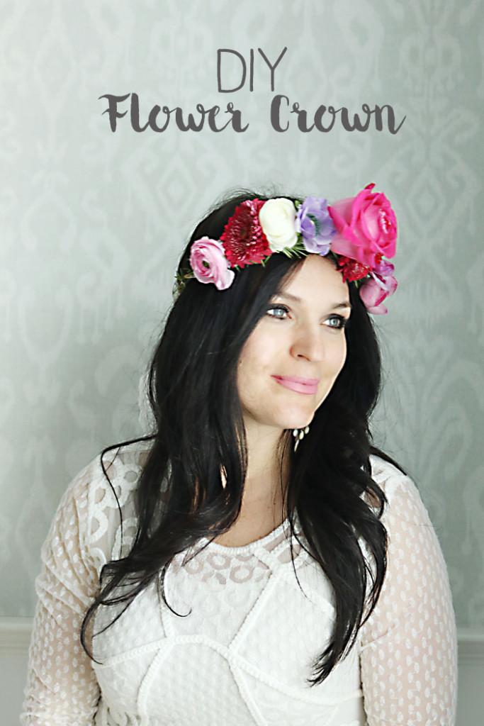 DIY-flower-crown, how to make flower crown for child or adult, flower crown for wedding, easter flower crown, flower headband