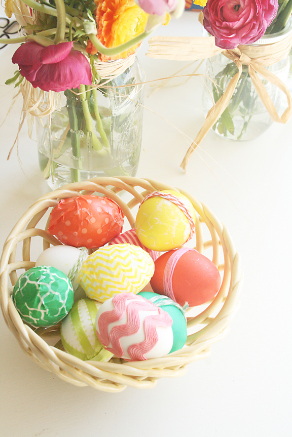 non painted easter eggs, no paint easter eggs, twine easter eggs, washi tape easter eggs, ribbon easter eggs.