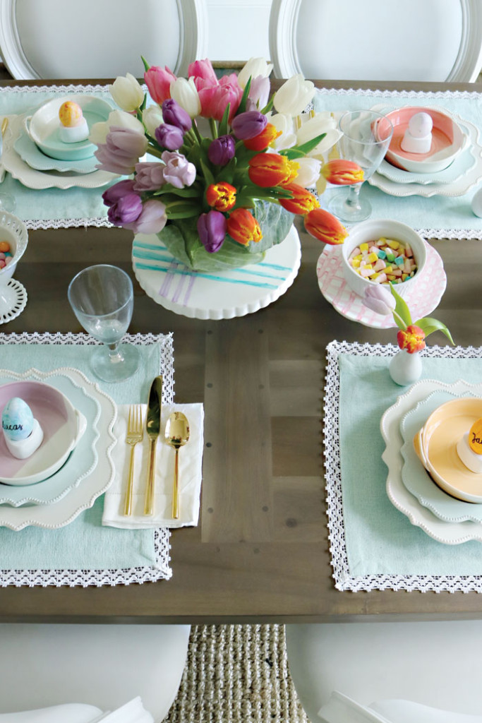 Spring easter table decorations darling darleen a