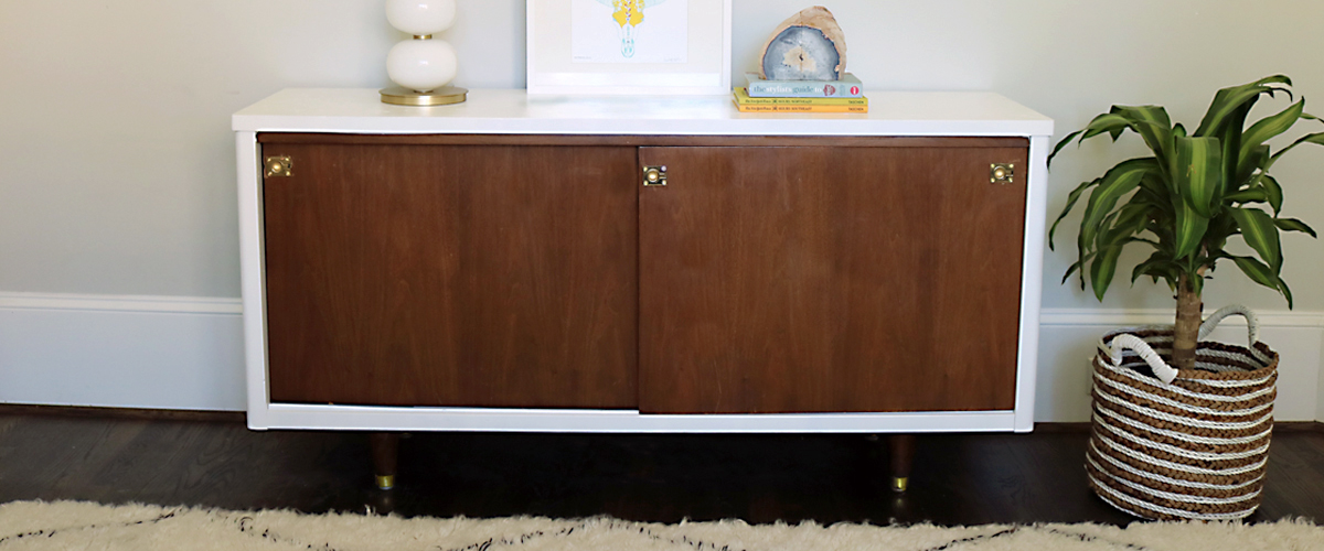 Before After Lacquer Mid Century Modern Credenza