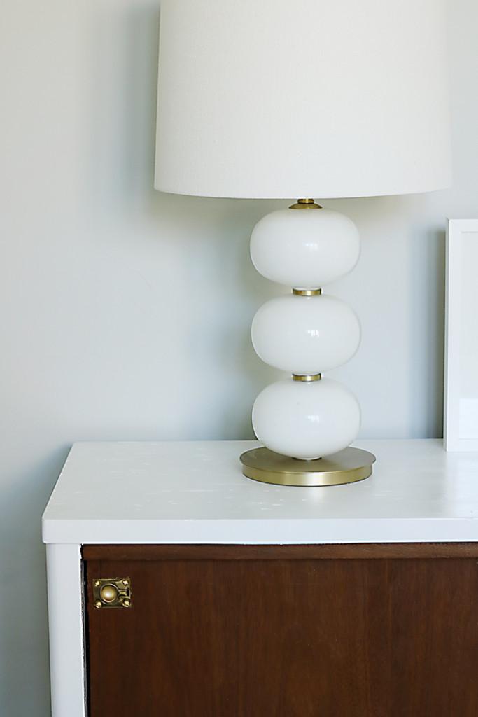 mid century credenza west elm lamp