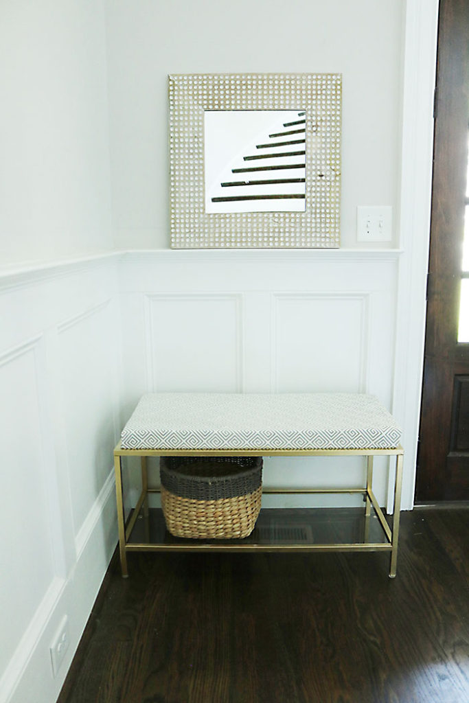 gold-metal-bench-with-fabric