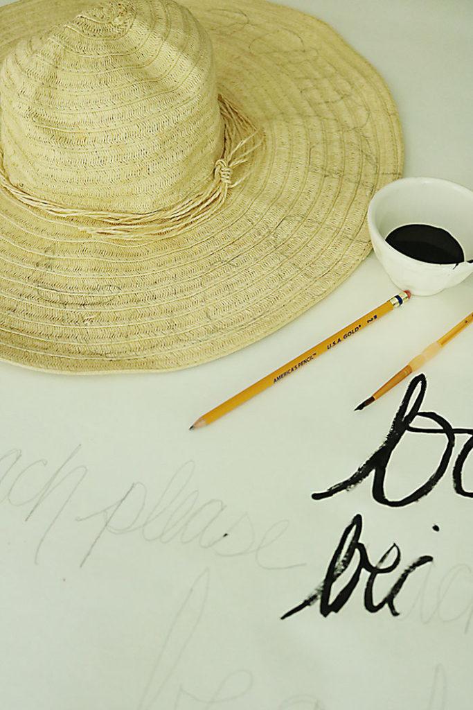 diy-word-script-straw-hat-pencil-saying