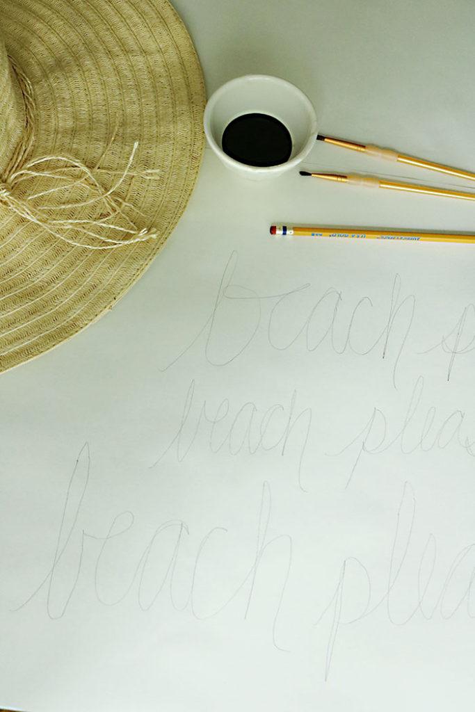diy-word-script-straw-hat-writing