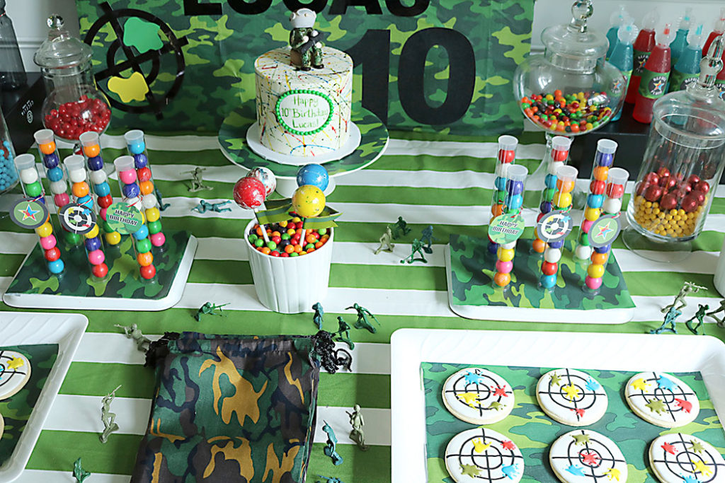 paintball-birthday-party-decor-table