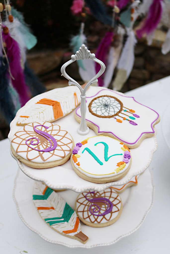 boho-birthday-sugar-cookies