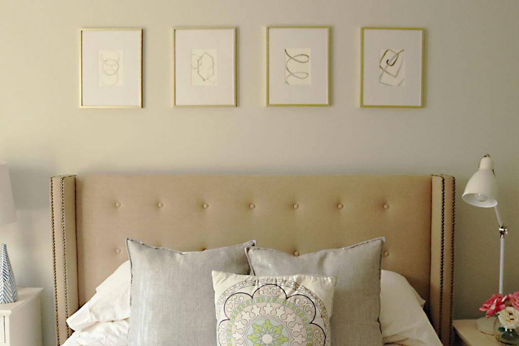 watercolor-art-gallery-minimalist, watercolor-5-minute-project-ideas, gallery wall, guest bedroom wall decor ideas, painting, watercolor 101, watercolor for beginners, minimalist painting, minimalist projects, DIY painting