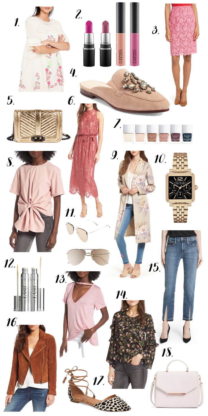 Nordstrom Anniversary Sale, pink nude layout, #nsale, nordstrom rack, kate spade, beauty layout