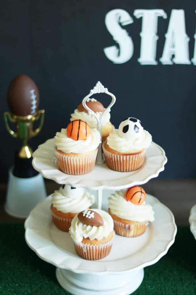 Sports Themed Birthday Party Cupcakes    Darling Darleen
