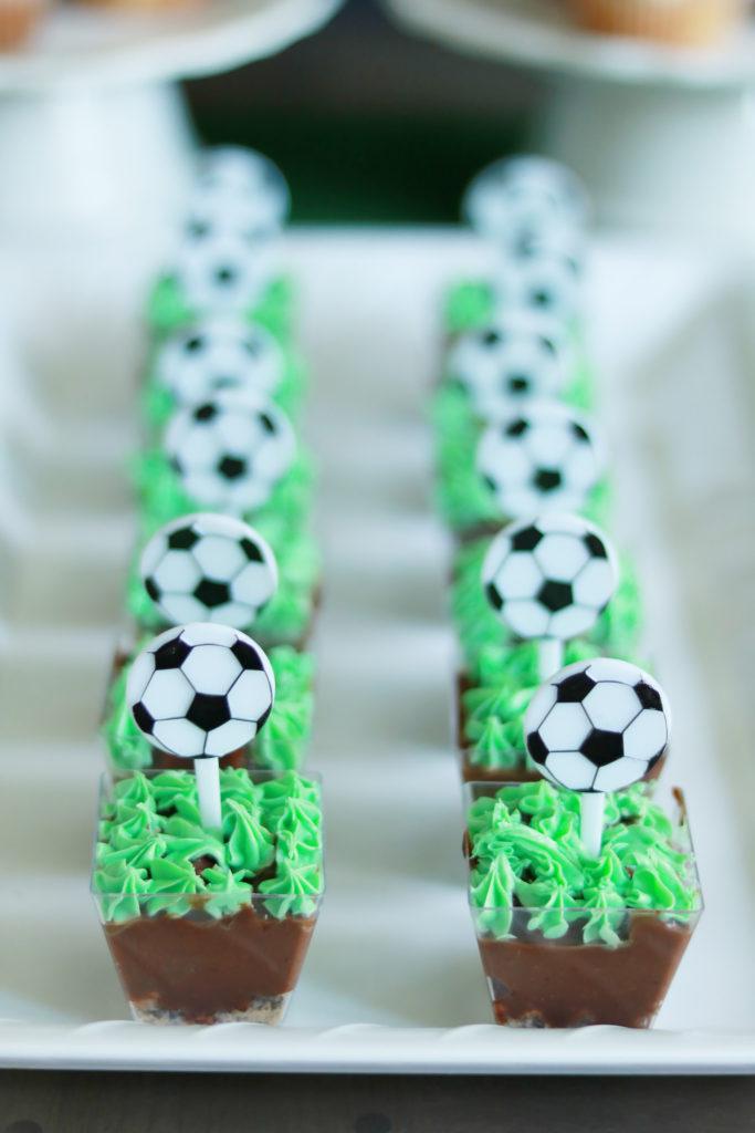 Sports Themed Birthday Party, Soccer Pudding Dessert    Darling Darleen