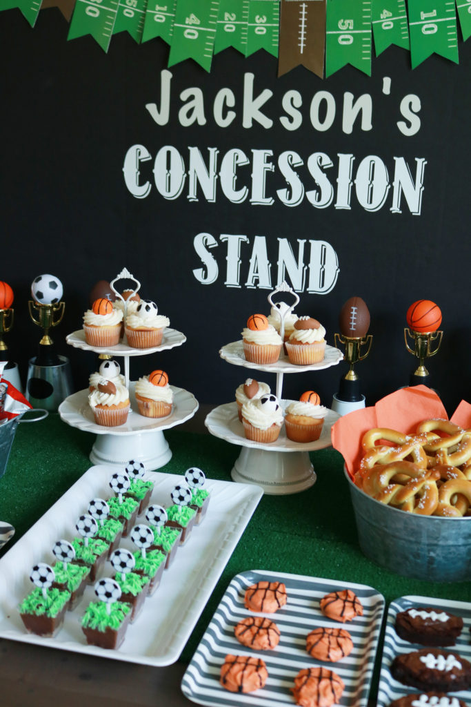 Sports Themed Birthday Party, Soccer Party, Football Party, Basketball Party    Darling Darleen