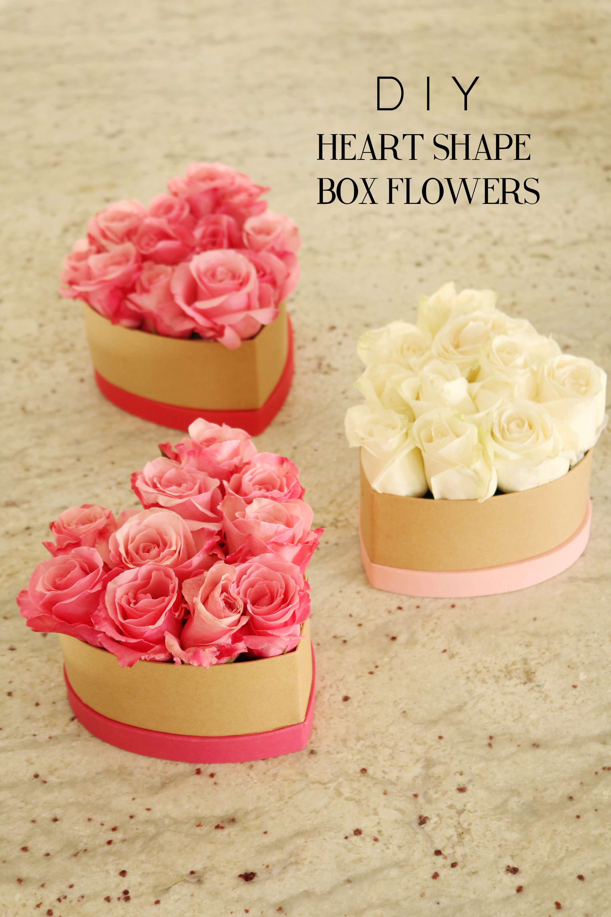 DIY Heart Shape Flower Box for Valentines Day | Box of Flowers || Darling Darleen