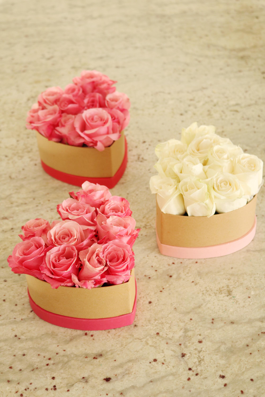 DIY Heart Shape Flower Box for Valentines Day | Box of Flowers Arrangement || Darling Darleen