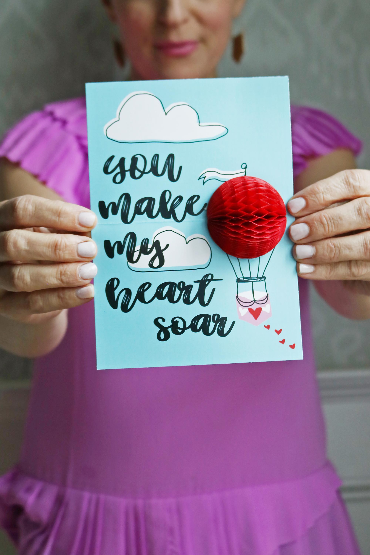 Valentine's Honeycomb Pop-Up Cards | Ice Cream Valentines | Blowing Bubbles Valentine's | Hot Air Balloon Valentine's || Darling Darleen