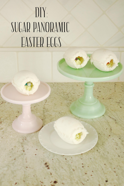 DIY Sugar Panoramic Easter Eggs, Easy how to make Tutorial    Darling Darleen