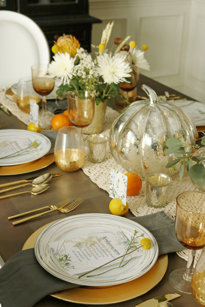 Chic Citrus Thanksgiving Table    Darling Darleen