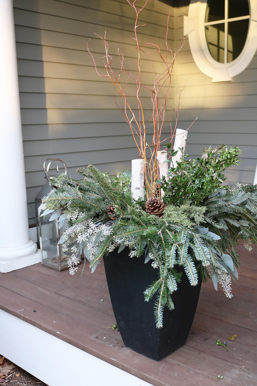 Outdoor Winter Birch Planters Darling Darleen A Lifestyle Design Blog