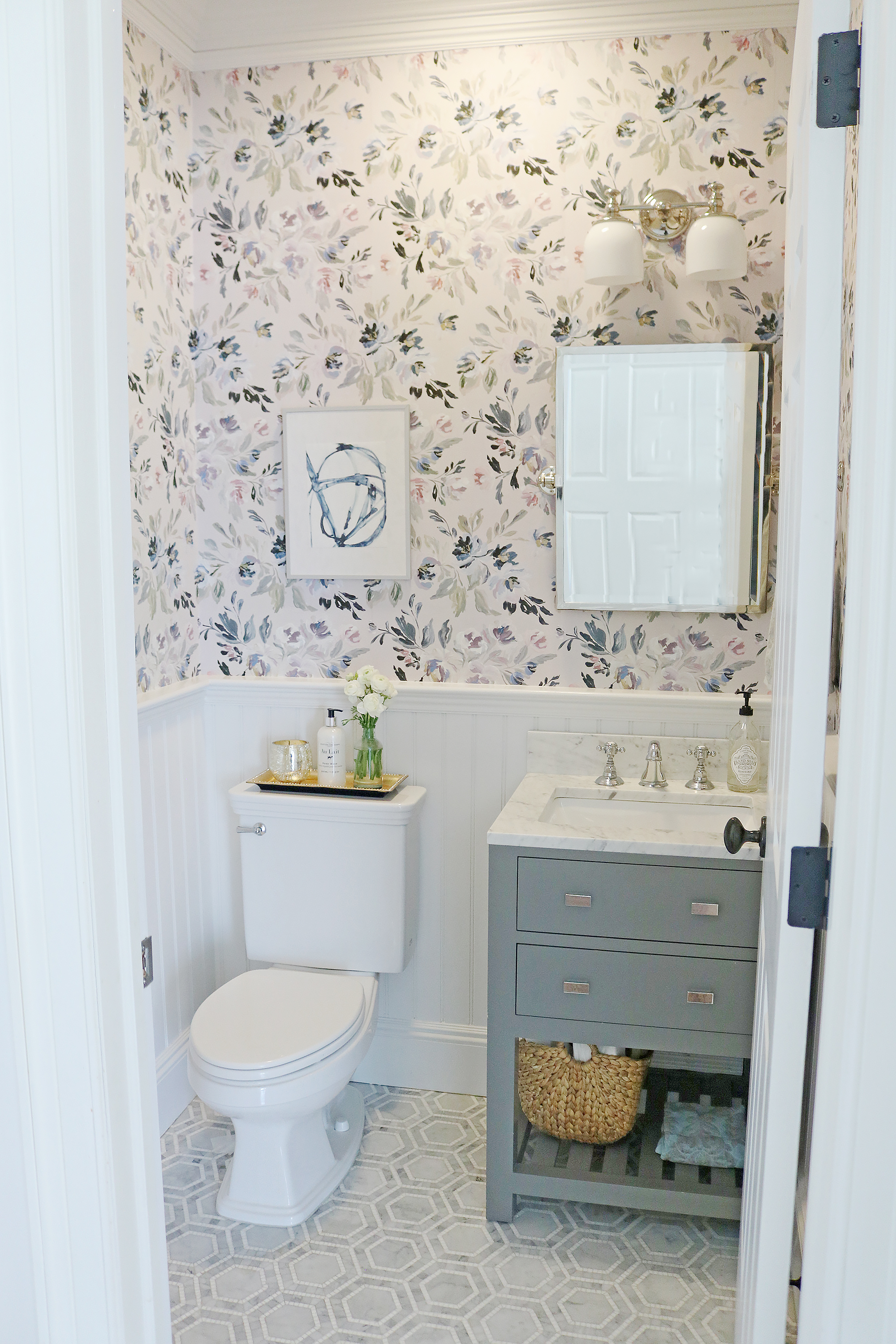 Powder Bathroom Makeover Darling Darleen A Lifestyle Design Blog