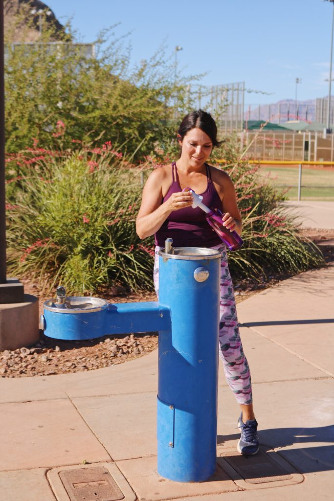 On the Go with Brita Filtering Bottle for Summer Travels exploring West Coast that delivered hassle-free hydration anywhere, without the waste. Take it to the park or to the pool!  Fill it up with any water fountain #AD #PutFiltersFIrst @britaUSA