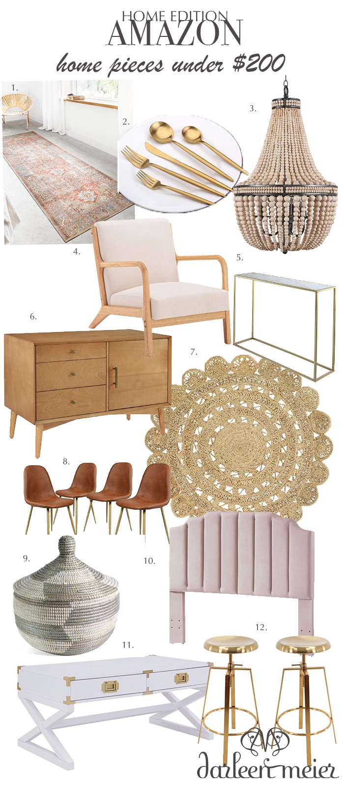 Rounding up the best Amazon Home Under $200 statement pieces that are delivered right to your door step.  || Darling Darleen #amazonhome #darlingdarleenblog #darleenmeier
