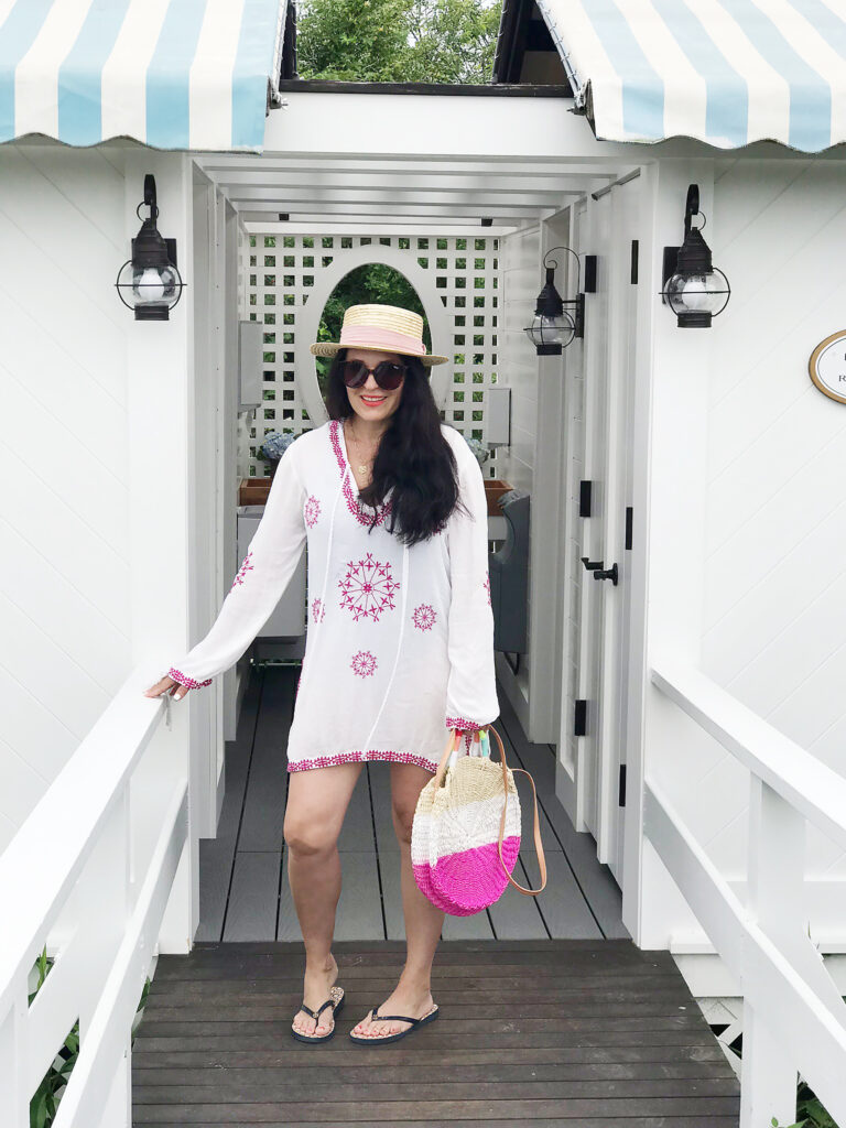 Stylish Beach cover-ups for your beach day at the beautiful Ocean House.  Sharing the best beach cover-ups under $40 || Darling Darleen Top Lifestyle CT Blogger #oceanhouse #beachcoverups #darlingdarleen #darleenmeier