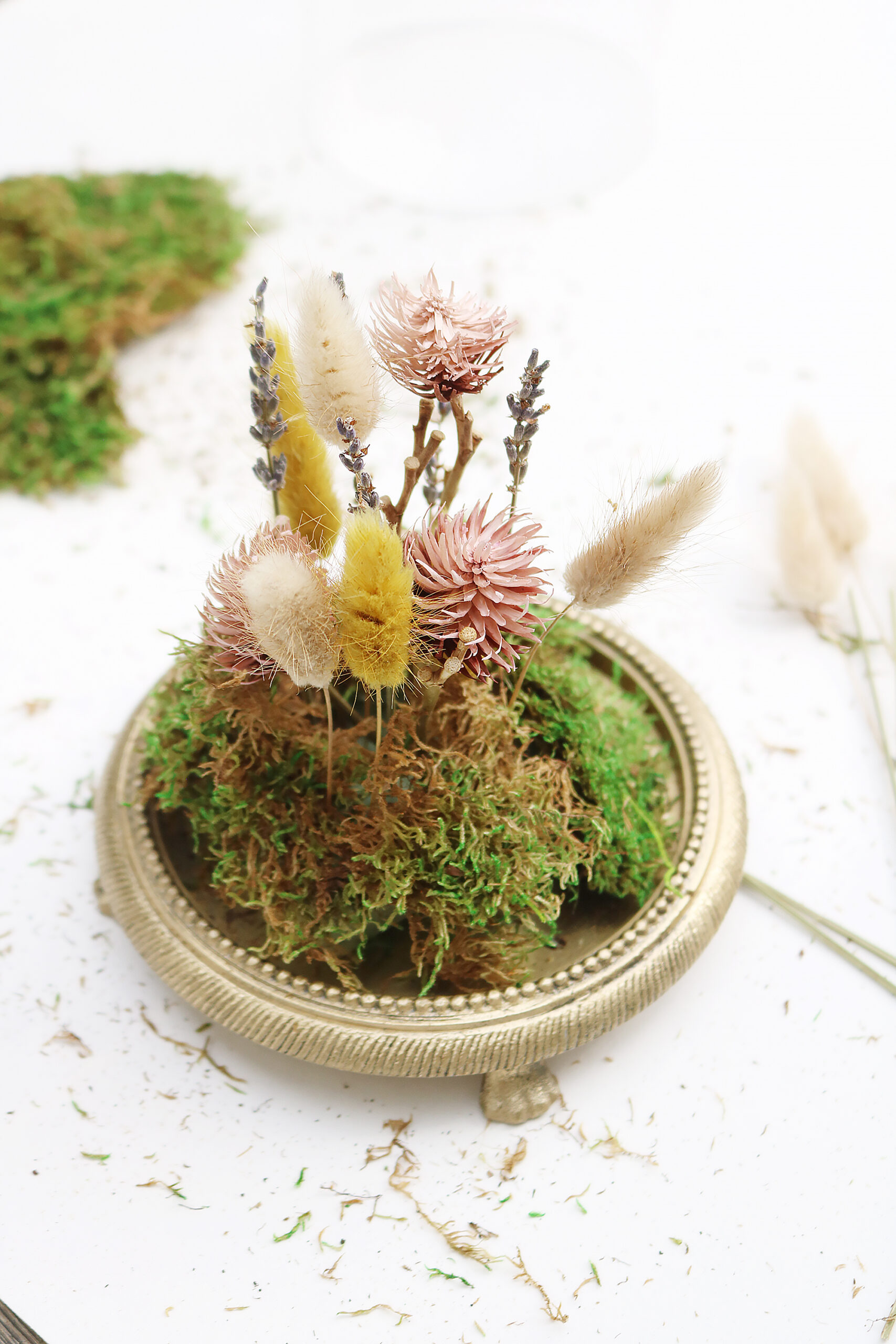 The perfect fall coffee table accent piece are these DIY dried floral Terrariums    Darling Darleen Top Lifestyle CT blogger #driedfloral