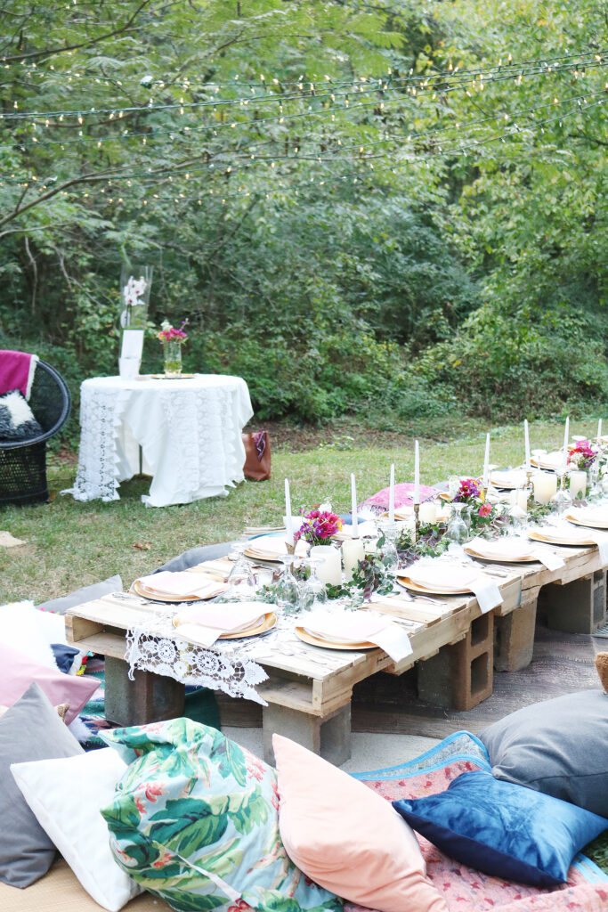 The Perfect Celebration to Ring in Your Birthday with this Bohemian Backyard Dinner Party under a moonlight evening with dear friends || Darling Darleen Top Lifestyle CT Blogger #bohemiandinner