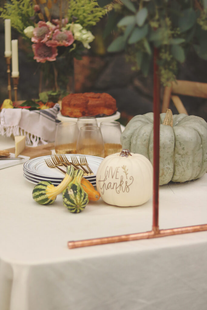 Decorating your Thanksgiving Table plus an easy DIY Over-The-Table Floral Rod to Make Your Thanksgiving Table a Feast to Remember and to use for all your festive holidays.  || Darling Darleen Top Lifestyle CT Blogger #thanksgivingtable #thanksgiving #darlingdarleen