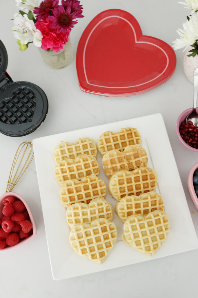 Bring Valentine's Day Home this year!  Start off with a Waffle bar or a Breakfast of Hearts!  So many fun Valentine's Day breakfast ideas.     Darling Darleen Top Lifestyle Blogger #ctblogger #darlingdarleen #valentinesday