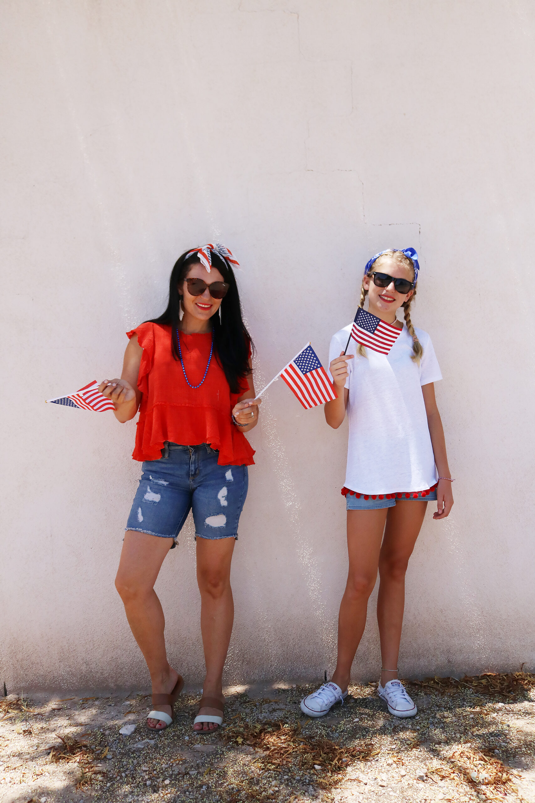 4th of July Outfit , fourth of July, red white and blue outfit, red dress, summer dress, patriotic dress, American flag, Bermuda shorts with red shirt || Darling Darleen Top Lifestyle CT Blogger  #4thofjuly #fourthofjuly