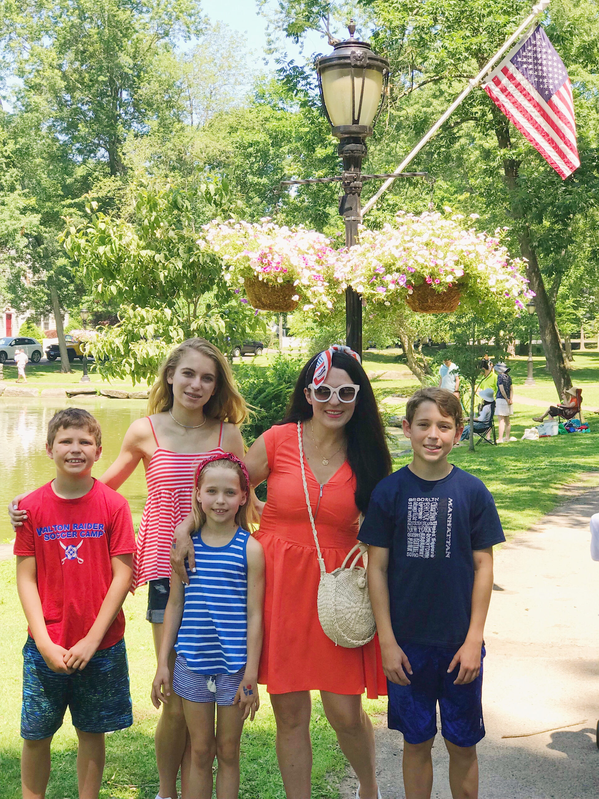 4th of July Outfit , fourth of July, red white and blue outfit, red dress, summer dress, patriotic dress, family 4th of July outfits || Darling Darleen Top Lifestyle CT Blogger  #4thofjuly #fourthofjuly